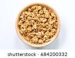 bowl of muesli and granola... | Shutterstock . vector #684200332