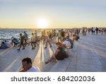 zadar  croatia   july 14  2017  ... | Shutterstock . vector #684202036