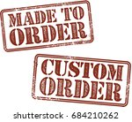 custom made to order product... | Shutterstock .eps vector #684210262