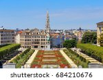 brussels center on a sunny day. ... | Shutterstock . vector #684210676