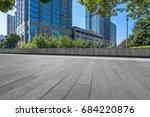 empty pavement and modern... | Shutterstock . vector #684220876