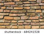 background of old vintage brick ... | Shutterstock . vector #684241528