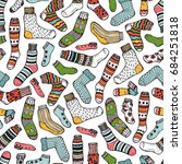 clothes background. socks... | Shutterstock .eps vector #684251818