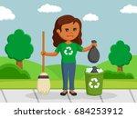 african woman environmental... | Shutterstock . vector #684253912