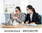 young elegant company manager...   Shutterstock . vector #684268198