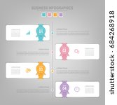 infographics template of four... | Shutterstock .eps vector #684268918