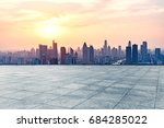 empty square front of tianjin... | Shutterstock . vector #684285022