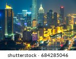 night view of tianjin city... | Shutterstock . vector #684285046