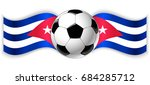 cuban and cuban wavy flags with ... | Shutterstock .eps vector #684285712