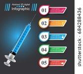 business infographics origami... | Shutterstock .eps vector #684288436