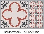 arabic patter style tiles for... | Shutterstock .eps vector #684293455
