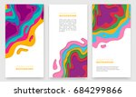 banner design with abstract... | Shutterstock .eps vector #684299866