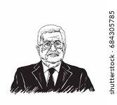 mahmoud abbas  president of...   Shutterstock .eps vector #684305785