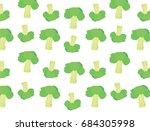 broccoli vector on white... | Shutterstock .eps vector #684305998