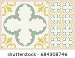arabic patter style tiles for...   Shutterstock .eps vector #684308746