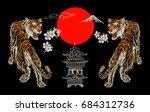 Japanese Tiger  Flower  Temple...