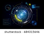hud interface gui futuristic... | Shutterstock .eps vector #684315646