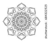 mandala. round ornament pattern.... | Shutterstock .eps vector #684322525