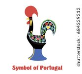 stylized cock. symbol of... | Shutterstock .eps vector #684329212