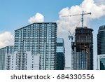 miami beach modern condos...   Shutterstock . vector #684330556