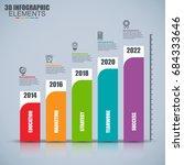 business 3d infographics vector ... | Shutterstock .eps vector #684333646