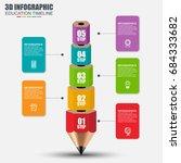 education 3d pencil...   Shutterstock .eps vector #684333682