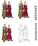 gothic_formal_dress_2 medieval... | Shutterstock .eps vector #68433469