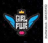 girl power   feminist slogan ...   Shutterstock .eps vector #684335452