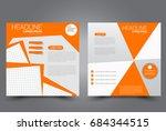 square flyer template. brochure ... | Shutterstock .eps vector #684344515