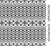 vector seamless ethnic black... | Shutterstock .eps vector #684346246