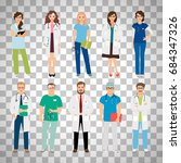healthcare medical team workers ... | Shutterstock .eps vector #684347326