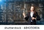 businesswoman architect... | Shutterstock . vector #684350806
