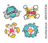 bang and boom signs | Shutterstock .eps vector #684353536