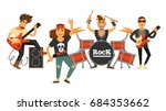 rock music band singers and... | Shutterstock .eps vector #684353662