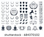 luxury logo set. crest logo... | Shutterstock .eps vector #684370102