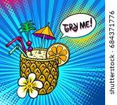 pop art background with... | Shutterstock .eps vector #684371776