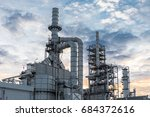 industrial view at oil refinery ... | Shutterstock . vector #684372616
