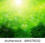 green background | Shutterstock . vector #684378232