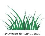 fragment of a green grass... | Shutterstock .eps vector #684381538