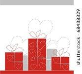 gifts. vectorial illustration | Shutterstock .eps vector #68438329