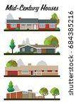 vector set of houses mid...   Shutterstock .eps vector #684385216