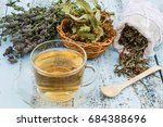 various dried meadow herbs and... | Shutterstock . vector #684388696