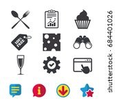 food icons. muffin cupcake...