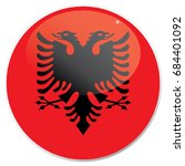 the national flag of albania... | Shutterstock .eps vector #684401092