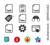 download document icons. file... | Shutterstock .eps vector #684401662