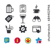 drinks icons. coffee cup and...