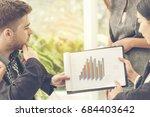 business teamwork trust in... | Shutterstock . vector #684403642