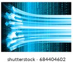 future technology  blue cyber...   Shutterstock .eps vector #684404602