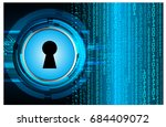 safety concept  closed padlock... | Shutterstock .eps vector #684409072