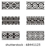 a set of mexican ornamental... | Shutterstock .eps vector #68441125